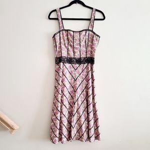 ☀️ 3/$15 Beth Bowley Floral Lace Trim Dress 4